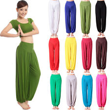 Womens Wide Leg Harem Yoga Pants Causal Hippie Gypsy Dance Baggy Loose Trousers