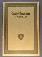 1922-1923 Crow-Elkhart Catalog Sales Brochure Excellent Original