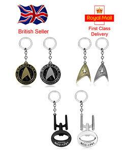 Star Trek Keyring  Starfleet Command Enterprise Various colours and Styles