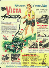 Victa Automatic Lawnmower  Metal Sign Reproduction 461