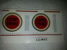 Nos vintage Lucky Strikes unfolded cigarette pack wrapper label Taxes (#3)