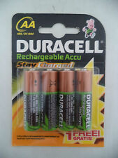Duracell Stay Charged Rechargeable Accu, AA, HR6 / DX1500, 2000 mAh, 4 Stück