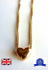 Heart Necklace Beautiful Jewellery Pendant Golden Tone Love Heart Jewelry Gift