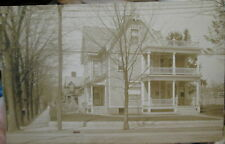 c1910 Private residence in Binghamton New York NY real photo postcard view