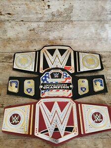 WWE Toy Kids Belts x3 USA, Heavyweight & Universal Wrestling Champion