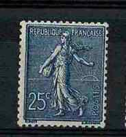"FRANCE STAMP YVERT 132a SCOTT # 141 "" SOWER 25c DARK BLUE "" MNH VF V377"