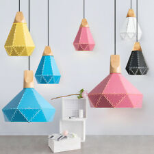 Wood Pendant Light Home Lamp Modern Ceiling Lights Kitchen Chandelier Lighting