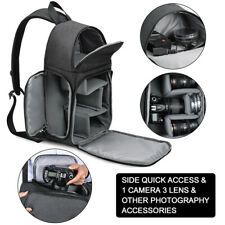 DSLR Camera Backpack Shoulder Bag Compact Photograph Waterproof for Nikon/Canon