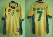 Maillot Cameroun Mondial 1998 Omam Biyik Puma soccer Vintage Football - XL