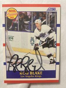 *SIGNED* ROB BLAKE * Rookie Card* 1990 Score #421 'NHL FUTURE PROSPECTS'