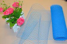 Birdcage Veil Millinery Net Blue 1 Yard French Veiling Wedding Fascinator