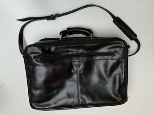 Hidesign High Quality Brown Leather Briefcase / Overnight Bag