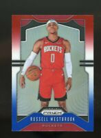 RUSSELL WESTBROOK 2019-20 Panini Prizm Red White Blue REFRACTOR Houston Rockets