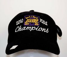 Los Angeles Lakers Back to Back Champions 2010 Black Adjustable Back NWT Hat