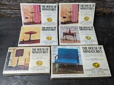 Sealed NOS The House of Miniatures Lot of 6 Queen Anne Furniture Settee Tables