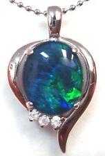 Genuine Triplet Opal Size 12x10mm Opal Natural Black Triplet Opal Pendant