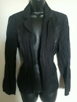 Chico's Black Shimmer Open Front Blazer Jacket Size 1 Excellent Condition