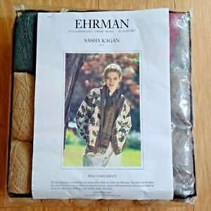 EHRMAN SASHA KAGAN Vintage 1989 Knitting Kit ACORNS Jacket Cardigan ROWAN Wool