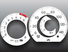 Fits 2007-2009 Nissan Versa Dash Instrument Cluster White Face Gauges
