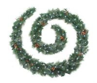 Best Artificial 6ft/9ft/12ft Frosted Luxury Christmas Garland Battery LED Lights