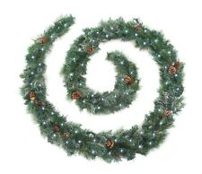 Frosted Christmas Garland 6ft/9ft/12ft Luxury Battery LED Lights Best Artificial
