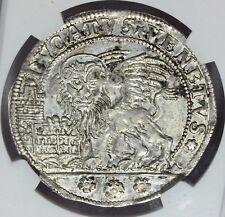 1775 VV Italy Venice Ducato Silver Coin - NGC AU 55 - DAV-1561 - KM# 663 - RARE