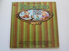 Walt Disney's Pinocchio The Original Motion Picture Sound Track Vintage Vinyl Lp