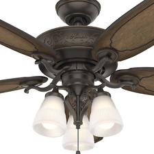 """54"""" Large Wooden LED Ceiling Fan Unique Branch Light Fixture Rustic Cabin Loft"""