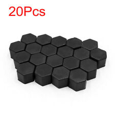 20pcs Black Car Truck Wheel Tyre Hub Screw Bolt Nut 19mm Plastic Cap Accessories