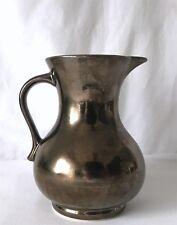 Vintage Metallic Prinknash Milk / Water Jug / Pitcher Made in England c1960-1970