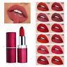 12 Colors Matte Lipstick Waterproof Long Lasting Moisturizing Plain Lip Gloss