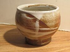 Signed Studio Pottery Chawan Tea Bowl With Awesome Glaze Decoration