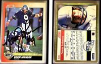 Norm Johnson Signed 1991 Score #146 Card Seattle Seahawks Auto Autograph