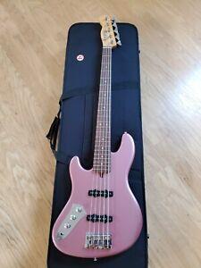 5 String Warmoth Jazz Bass Lefty Guitar with Dimarzio pick-ups Schallar Tuners