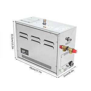 6KW Steam Generator Automatic Descaling With External Controller 25-55℃ 220‑240V