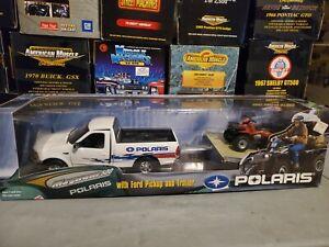 Ertl 1997 Ford F-150 Pickup w/Trailer Polaris 4x4 Magnum 500 1:18 Scale Diecast