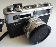 Vtg YASHICA GSN ELECTRO 35 Camera Hong Kong Japan Black Spiderman Rangefinder