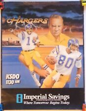 NFL CHARGERS Imperial Savings Promo Poster Original 1980s Coryell Fouts #2 Lot 2
