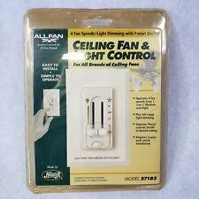 Hunter 4-Speed Ceiling Fan & Light Control Switch Dual-Slide model 27183 Sealed