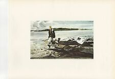"1972 Vintage HUNTING ""THE COOT HUNTER, 1941"" ANDREW WYETH MAINE Color Lithograph"