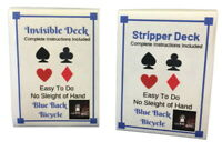 LMW Blue Back Stripper Deck and Invisible Deck Combo With Instructions for Over