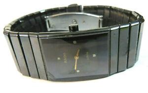 "Damen Armbanduhr ""Rado DiaStar Jubilé, Keramik, 4 Diamanten, Werk läuft nicht"