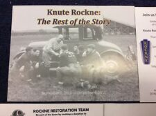 NORTHERN INDIANA STUDEBACKER NATIONAL MUSEUM KNUTE ROCKNE DONATION GIVEAWAY