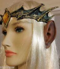 Werewolf EARS Halloween fancy dress costume accessory makeup Brown Latex