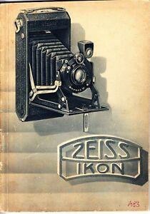 Zeiss Ikon Camera Catalogue 1930 - for Austria