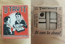Vintage 1930s Wooden Puzzle Games LOT - TAKITAPART - U TRY IT Made in USA