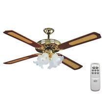 Ventilatore da soffitto con Telecomando Luce VECRD53L DCG 4 luci pale - Rotex
