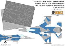 F-16C Blue Splinter Aggressor Camouflage 1/48 Camo Paint Masks F-16 DN Models