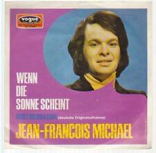 """7"""" Jean Francois Michael si le soleil brille allemand vogue DV 11145"""