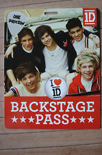 ONE DIRECTION Backstage Pass Card W/Lanyard